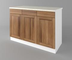 Долен кухненски шкаф с три чекмеджета и три врати Калатея - Канела 3