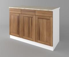 Долен кухненски шкаф с три чекмеджета и три врати Калатея - Канела 4
