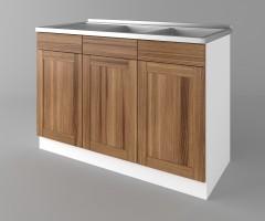Долен кухненски шкаф с двукоритна мивка Калатея - Канела 1