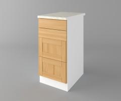 Долен кухненски шкаф с четири чекмеджета Калатея - Натурална 3