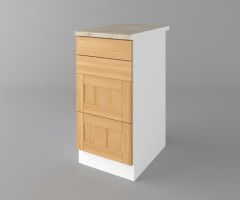 Долен кухненски шкаф с четири чекмеджета Калатея - Натурална 4