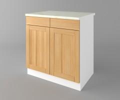 Долен кухненски шкаф с две чекмеджета и две врати Калатея - Натурална 1
