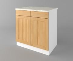 Долен кухненски шкаф с две чекмеджета и две врати Калатея - Натурална 2