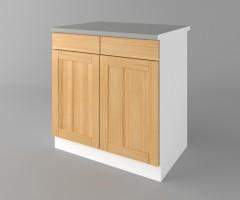 Долен кухненски шкаф с две чекмеджета и две врати Калатея - Натурална 3