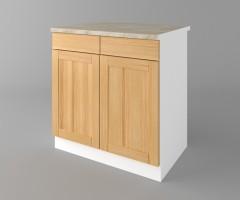 Долен кухненски шкаф с две чекмеджета и две врати Калатея - Натурална 4