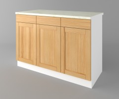 Долен кухненски шкаф с три чекмеджета и три врати Калатея - Натурална 1