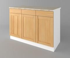 Долен кухненски шкаф с три чекмеджета и три врати Калатея - Натурална 2