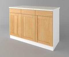 Долен кухненски шкаф с три чекмеджета и три врати Калатея - Натурална 3