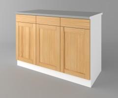 Долен кухненски шкаф с три чекмеджета и три врати Калатея - Натурална 4