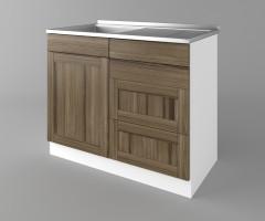 Долен кухненски шкаф с мивка - с четири работещи чекмеджета Калатея - Ким 3