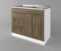 Долен кухненски шкаф с мивка - с четири работещи чекмеджета Калатея - Ким 4