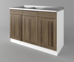 Долен кухненски шкаф с двукоритна мивка Калатея - Ким 1