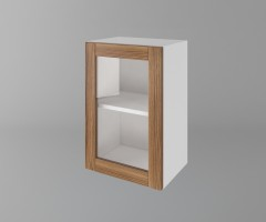 Горен кухненски шкаф с една врата за стъкло Калатея - Канела 1