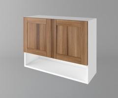 Горен кухненски шкаф с две врати и ниша Калатея - Канела 1