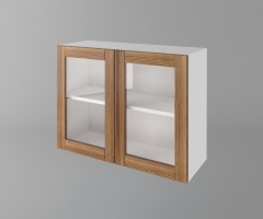 Горен кухненски шкаф с две врати за стъкло Калатея - Канела 1