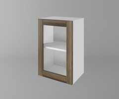 Горен кухненски шкаф с една врата за стъкло Калатея - Ким 1