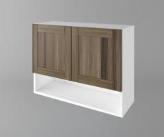Горен кухненски шкаф с две врати и ниша Калатея - Ким 1