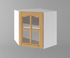 Горен кухненски шкаф за вътрешен ъгъл с една врата за стъкло Астра 1