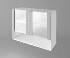 Горен кухненски шкаф с две остъклени врати и ниша Мирта 1