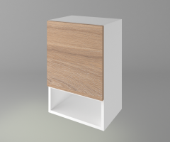 Горен кухненски шкаф с една врата и ниша Поларис 1
