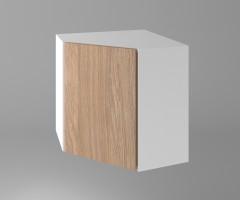 Горен кухненски шкаф за вътрешен ъгъл с една врата Поларис 1