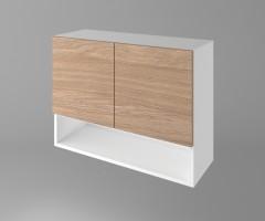 Горен кухненски шкаф с две врати и ниша Поларис 1