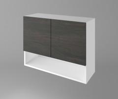 Горен кухненски шкаф с две врати и ниша Вега 1