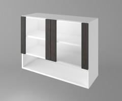 Горен кухненски шкаф с две остъклени врати и ниша Вега 1