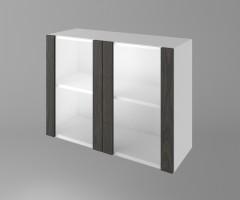 Горен кухненски шкаф с две остъклени врати Вега 1
