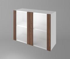 Горен кухненски шкаф с две остъклени врати Атлас 1