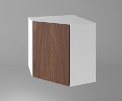 Горен кухненски шкаф за вътрешен ъгъл с една врата Атлас 1